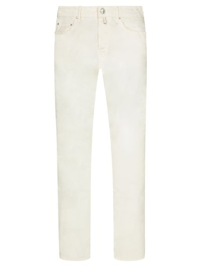 Leichte 5-Pocket-Hose, J688, Slim Fit in OFFWHITE