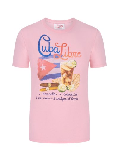 T-Shirt mit Frontprint in ROSE