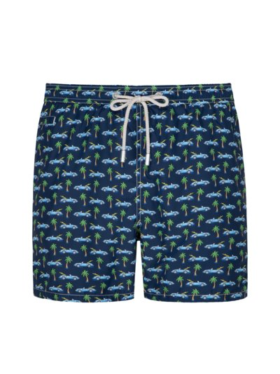 Badehose im Allover-Print in MARINE