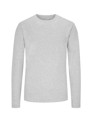 Sweatshirt, O-Neck in GRAU