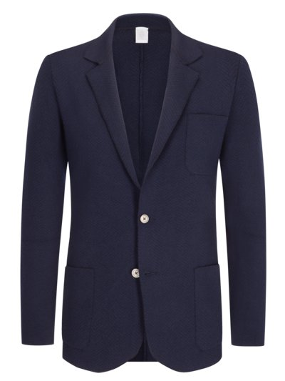 Strickblazer in MARINE
