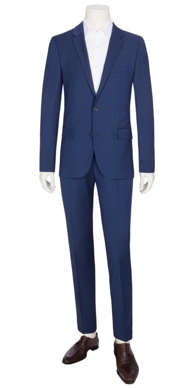 Baukastenanzug, royal, Slim Fit in ROYAL