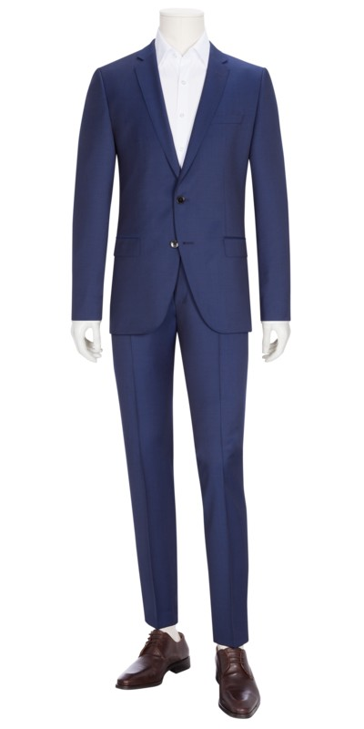 Baukasten-Anzug, Huge6/Genius5, Slim Fit in ROYAL