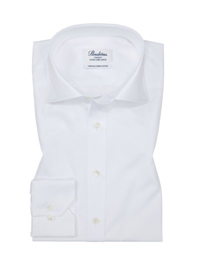 Oberhemd, extra langer Arm, Slim Fit in WEISS