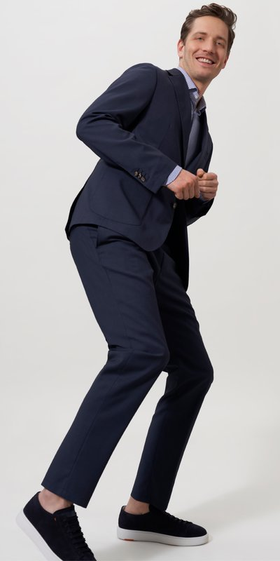 Baukastenanzug mit Business-Joggpant, Slim Fit in ROYAL