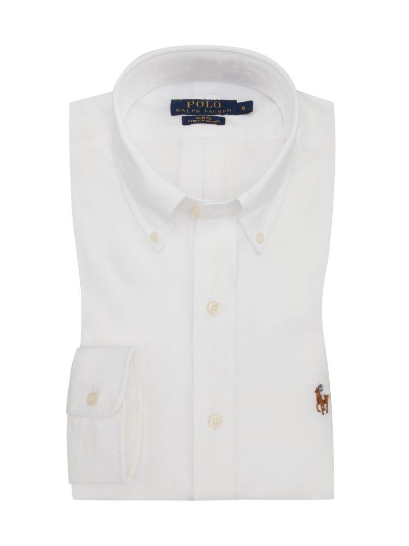 finest selection a7396 75472 Oxfordhemd mit Stretchanteil, Slim Fit weiss ...