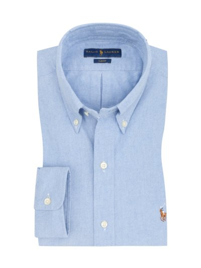 Oxford-Freizeithemd, Slim Fit in BLAU