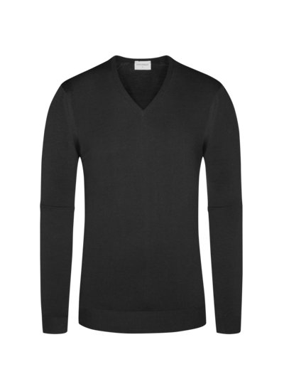 Pullover, V-Neck, Blenheim in SCHWARZ