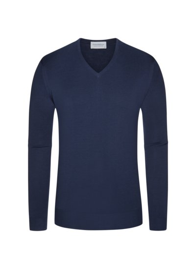 Pullover, V-Neck, Blenheim in BLAU