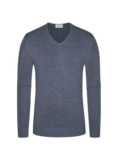 Pullover, V-Neck, Blenheim in GRAU