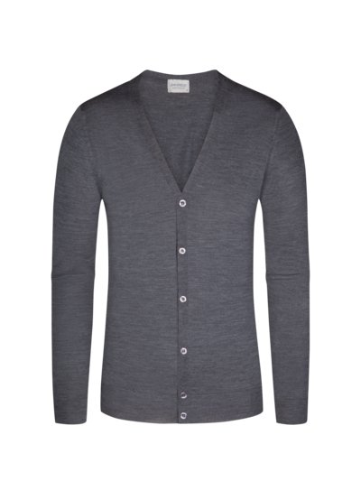 Strickcardigan, Petworth, Regular Fit in GRAU