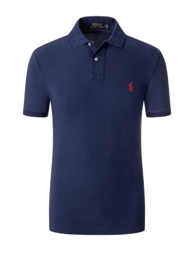 Poloshirt, Slim Fit in MARINE