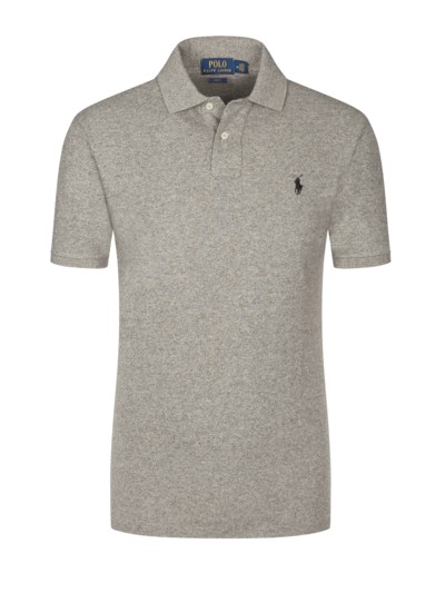 Poloshirt, Slim Fit in GRAU
