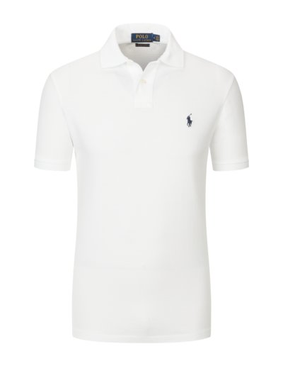 Poloshirt, Custom Slim Fit in WEISS