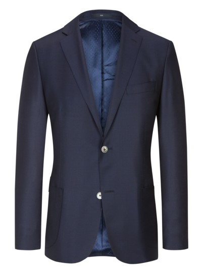 Hochwertiger Blazer, Shaped Fit in MARINE