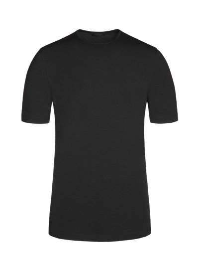 T-Shirt, O-Neck, im Viskose-Stretch in SCHWARZ