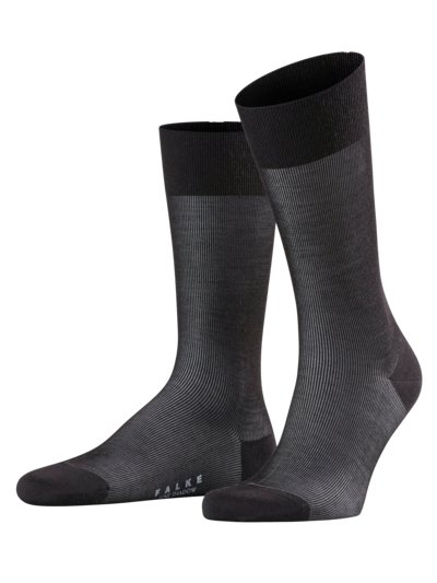 Businesssocken in eleganter Struktur in SCHWARZ