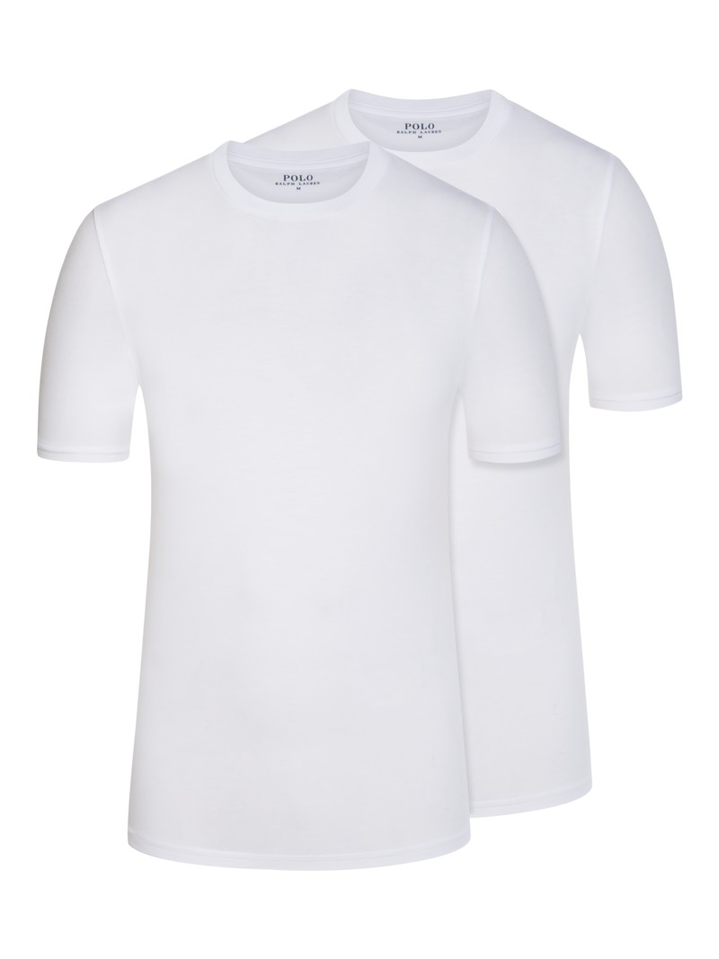 2er Pack O-Neck T-Shirts in WEISS