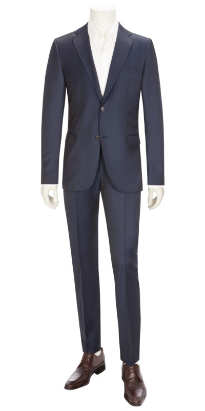 Hochwertiger Businessanzug, Solferino, Slim Fit in ROYAL