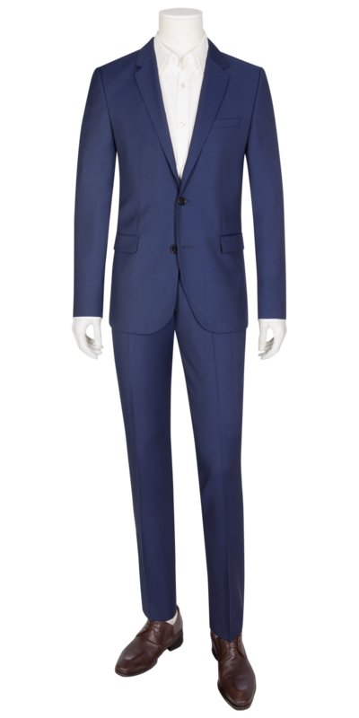 Businessanzug mit modischer Struktur, Extra Slim Fit in ROYAL