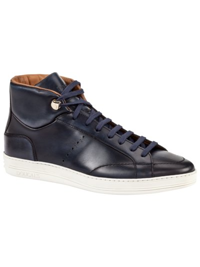 Sneaker in Hightop-Form in MARINE