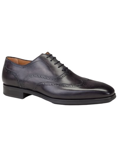 Lederschuh Oxford, mit Lyralochung in ANTHRAZIT