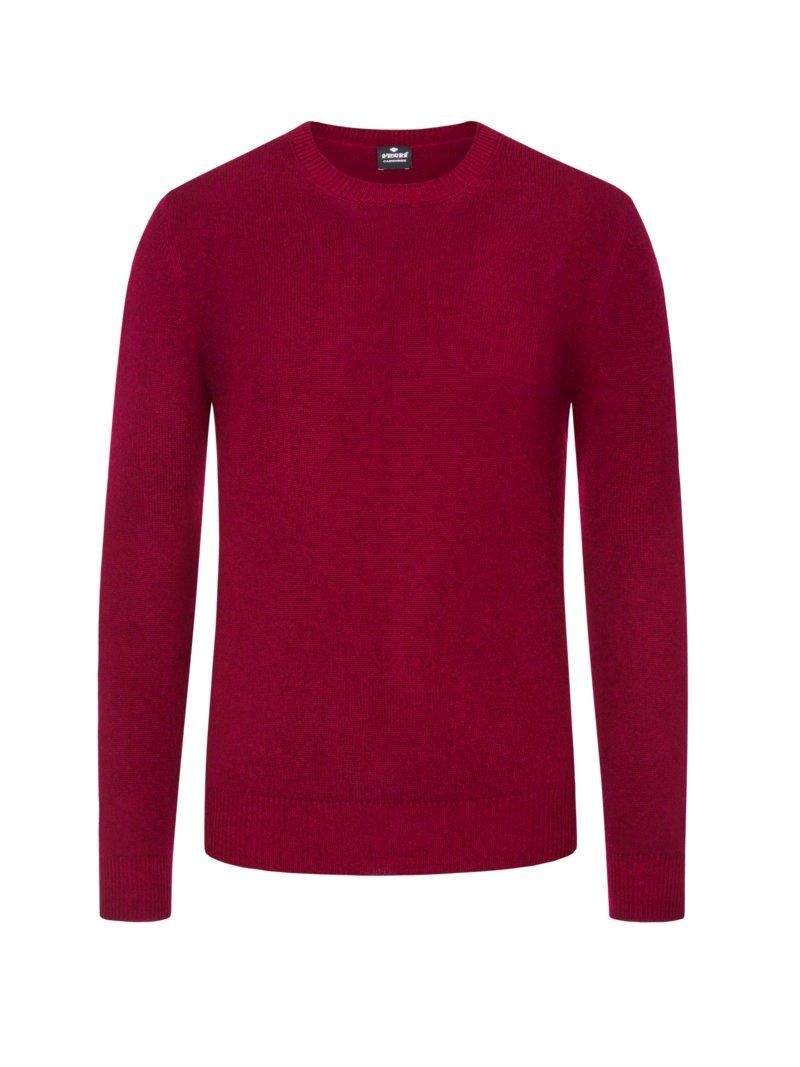 pullover aus 100 kaschmir rot pullover eckerle herrenmoden. Black Bedroom Furniture Sets. Home Design Ideas