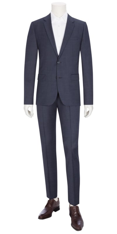 Businessanzug, Astian/Hets184, Extra Slim Fit in BLAU