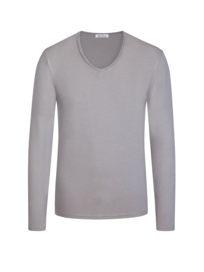 Leichtes Langarmshirt, Regular Fit in GRAU