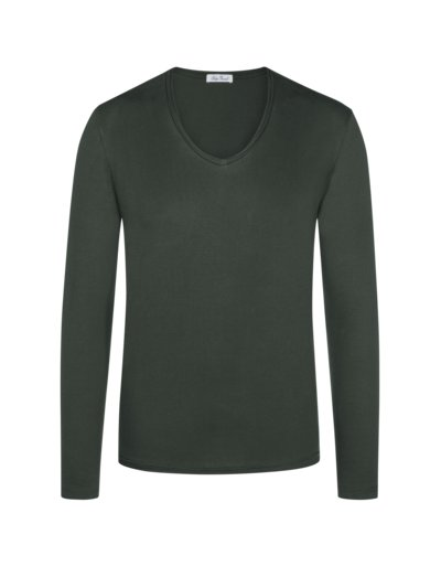Leichtes Langarmshirt, Regular Fit in OLIV