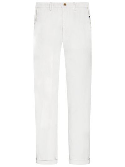 Chino mit Stretchanteil, Torino, Slim Fit in WEISS