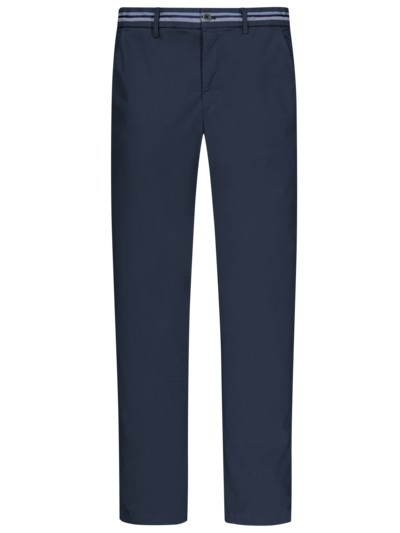 Chino mit Stretchanteil, New York, Slim Fit in MARINE