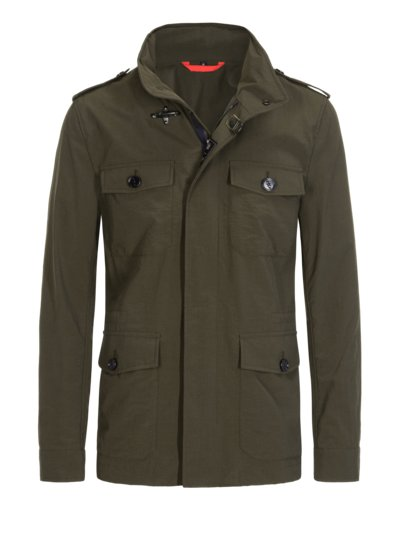 Fieldjacket im Military-Stil in OLIV