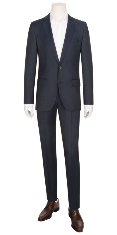 Businessanzug in Minimalstruktur, Huge6/Genius5, Slim Fit in MARINE