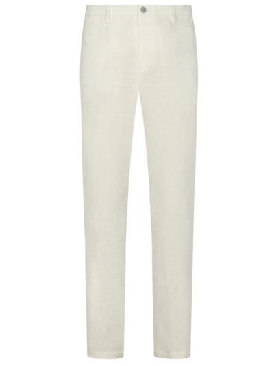 Baukasten-Leinenhose, Slim Fit in WEISS