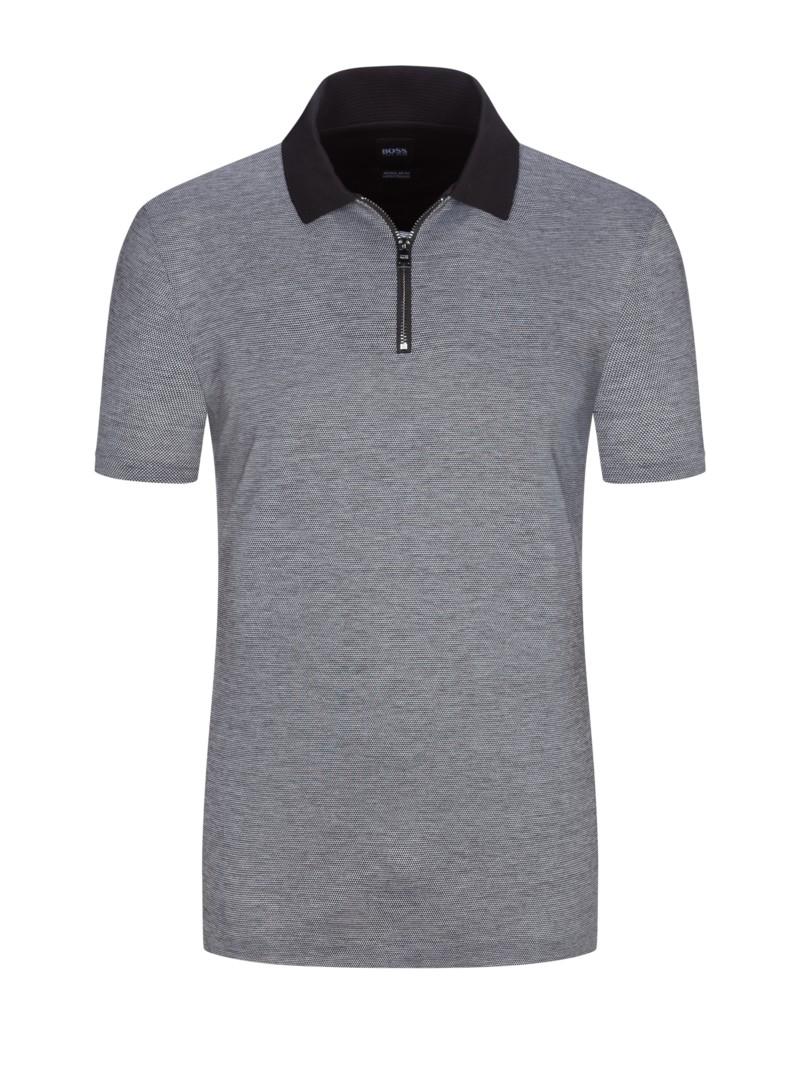 purchase cheap 26f48 92ad7 Poloshirt in eleganter Struktur, Regular Fit schwarz ...