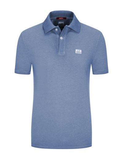 Poloshirt in Piqué-Qualität, Re-Colour, Slim Fit in HELLBLAU